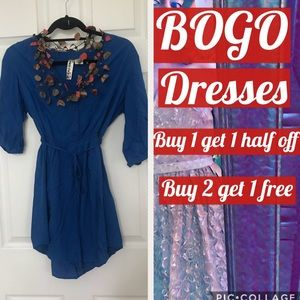 👗Mimi Chica royal blue dress